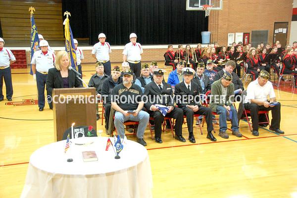 Crystal Falls Veterans Day 11-11-2015