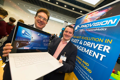 09/11/2017. Pictured at the packed Crystal Valley Tech showcase in the WIT Arena today, Waterford based Suir Valley Ventures announced an investment of €1 million in Internet of Things company ProVision Vehicle Cameras.  Pictured is Barry Downes from Suir Valley Ventures and Simon Murray from ProVision Vehicle Cameras. Picture: Patrick Browne