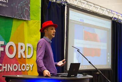 09/11/2017. Crystal Valley Tech Showcase at WIT Arena. Pictured is James Mernin of Red Hat . Picture: Patrick Browne