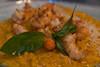 Risotto con camarones (40 S /. o 13 €). Nada mal pero tampoco nada del otro mundo y un poco pequeño como plato de fondo. <br /> <br /> Cala - Costa Verde - Barranco - Lima - Perú