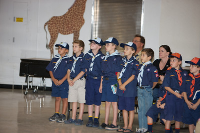 Pack 545 September Pack Meeting - bobcat Ceremony