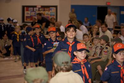 Pack 545 September Pack Meeting - bobcat Ceremony