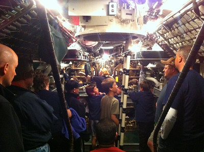 Cub scouts USS Cobia overnight 5-12-12