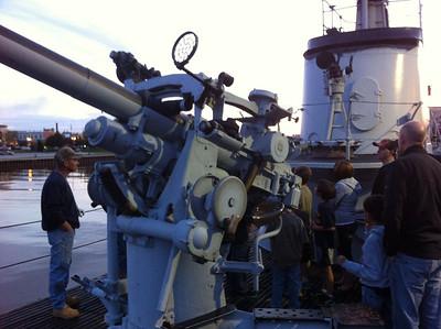 Cub scouts USS Cobia overnight 5-12-12