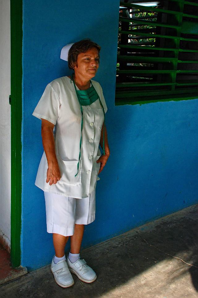 School nurse in Las Terasas Grammar School.