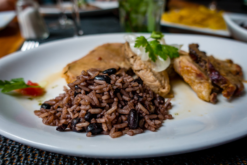 Rice Cooked in Black Beans (moros y cristianos)