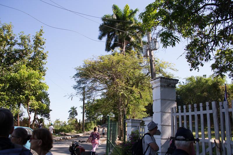 Outside of Hemingway's house