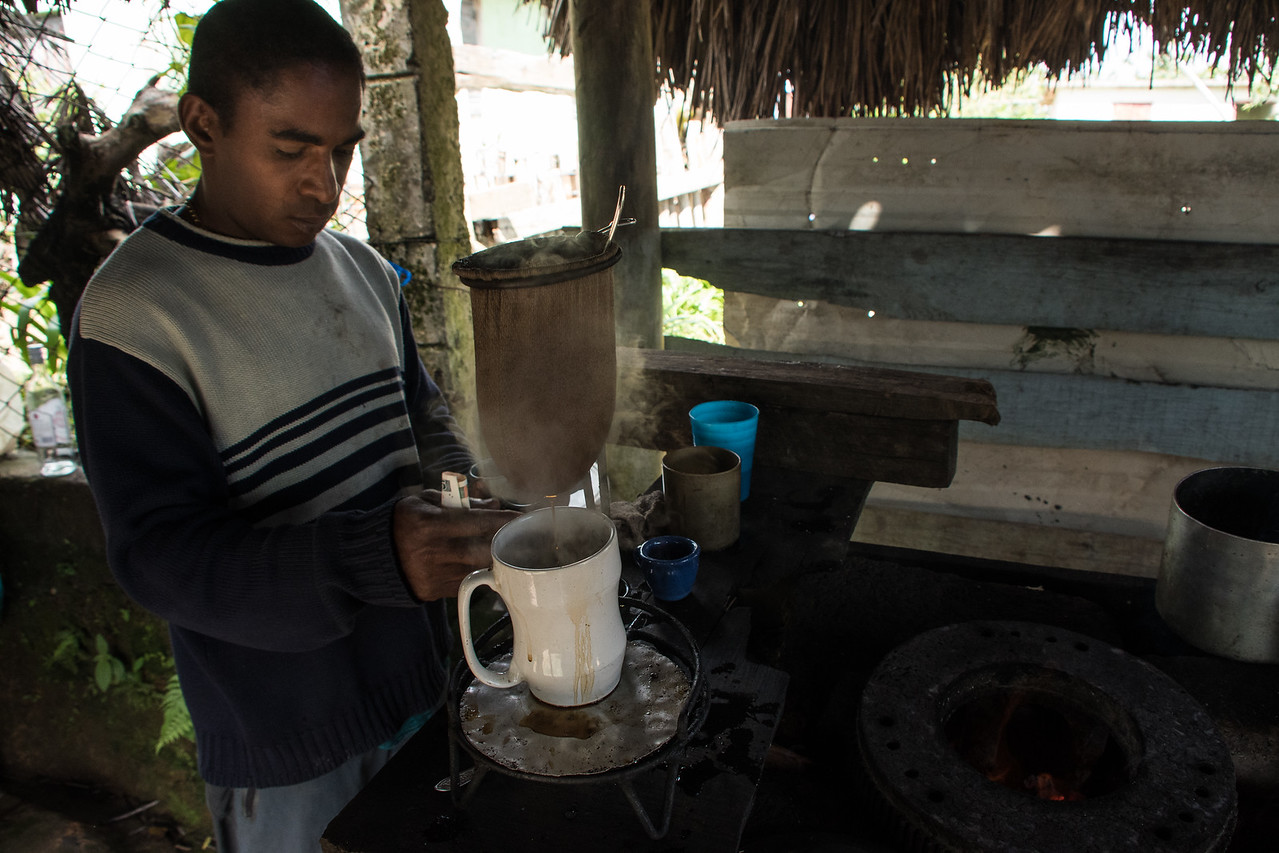 Drip coffee at a roadside stand near Santiago de Cuba.  Amazing coffee.