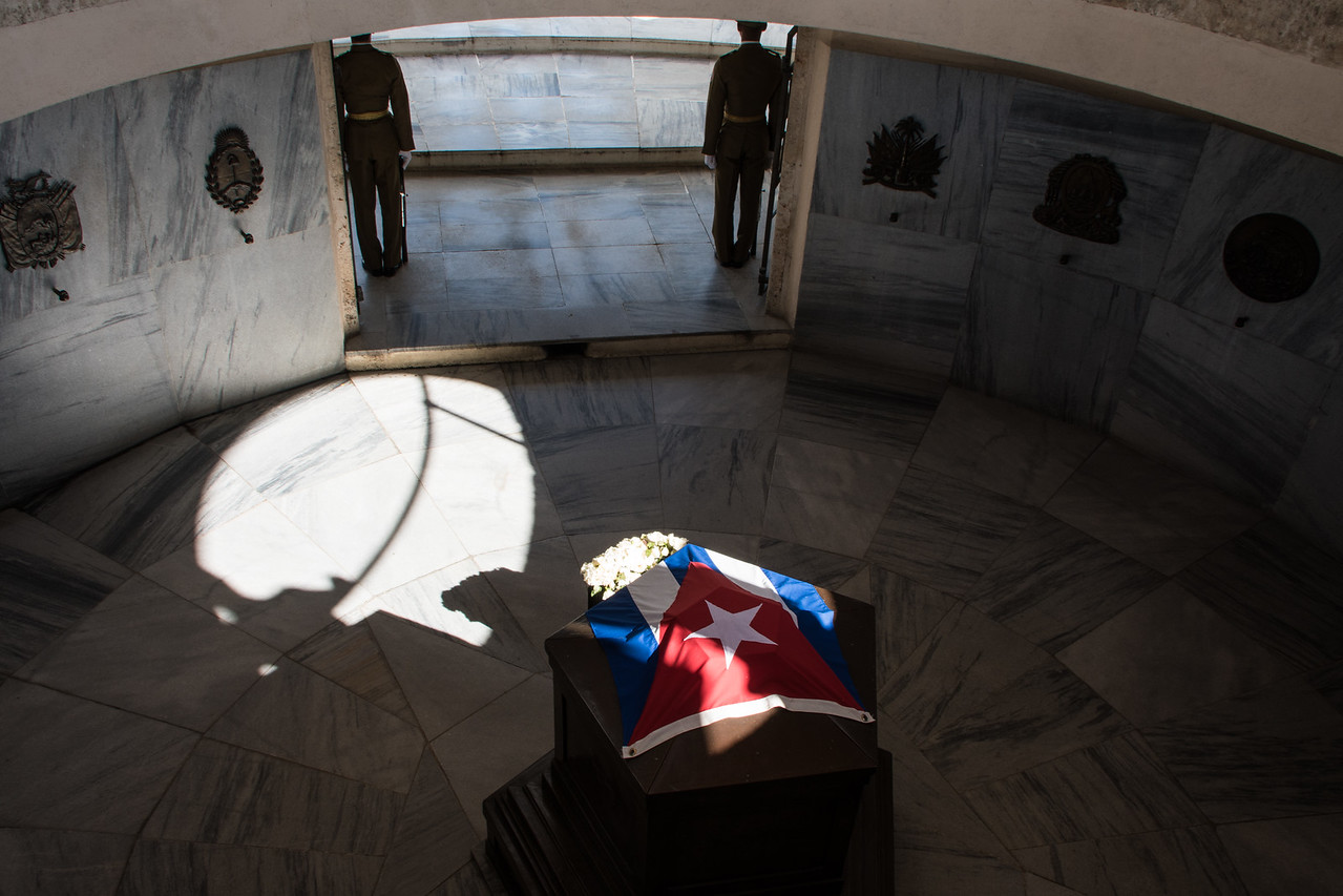 The mausoleum of Jose Marti, the father of Cuban independence