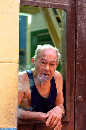 Cigar Man in door