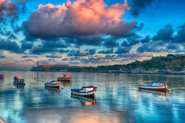 Sunrise on Havana Harbour