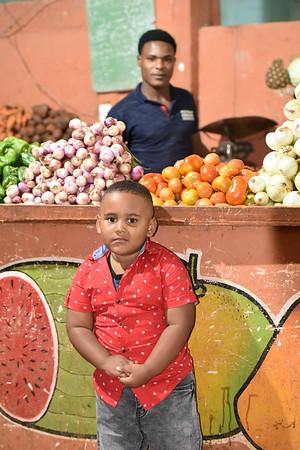 Posing Boy in Market