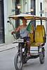 Cuban Taxi Driver on bike