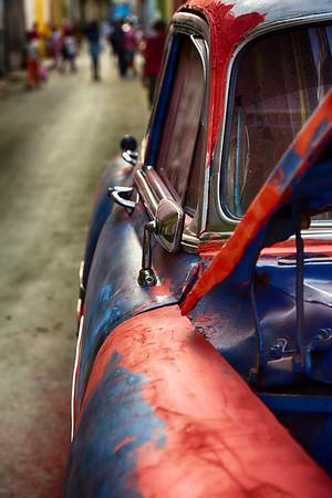 Vertical Side of car in Street