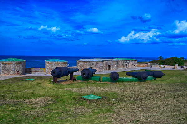 Cannons protecting the harbour