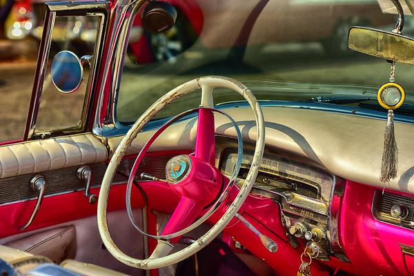 Steering Wheel of 55 Cadillac