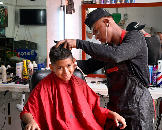 Boy with Barber