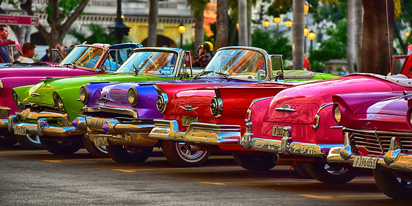 Jellybean Row of Cars Pano