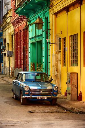 Great Blue Car in Street