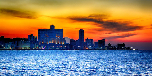 The Malecon at sunset