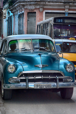Blue car and Cab