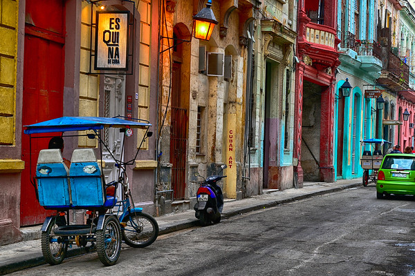 Colorful streets of old Havana