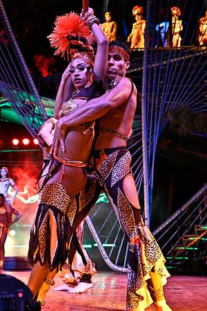 Close up of dancers
