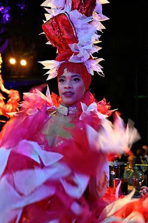 Colorful female dancer