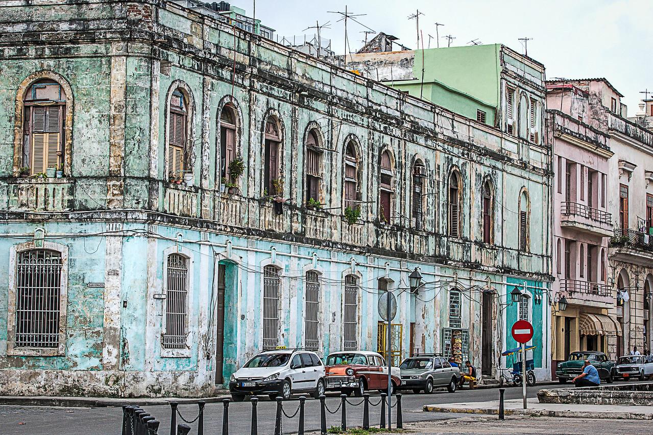Typical street in Havana in Cuba