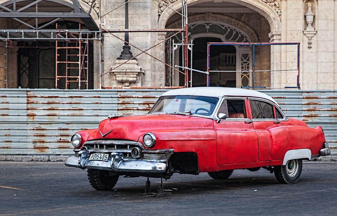Broken Down Car at Opera House in Havana