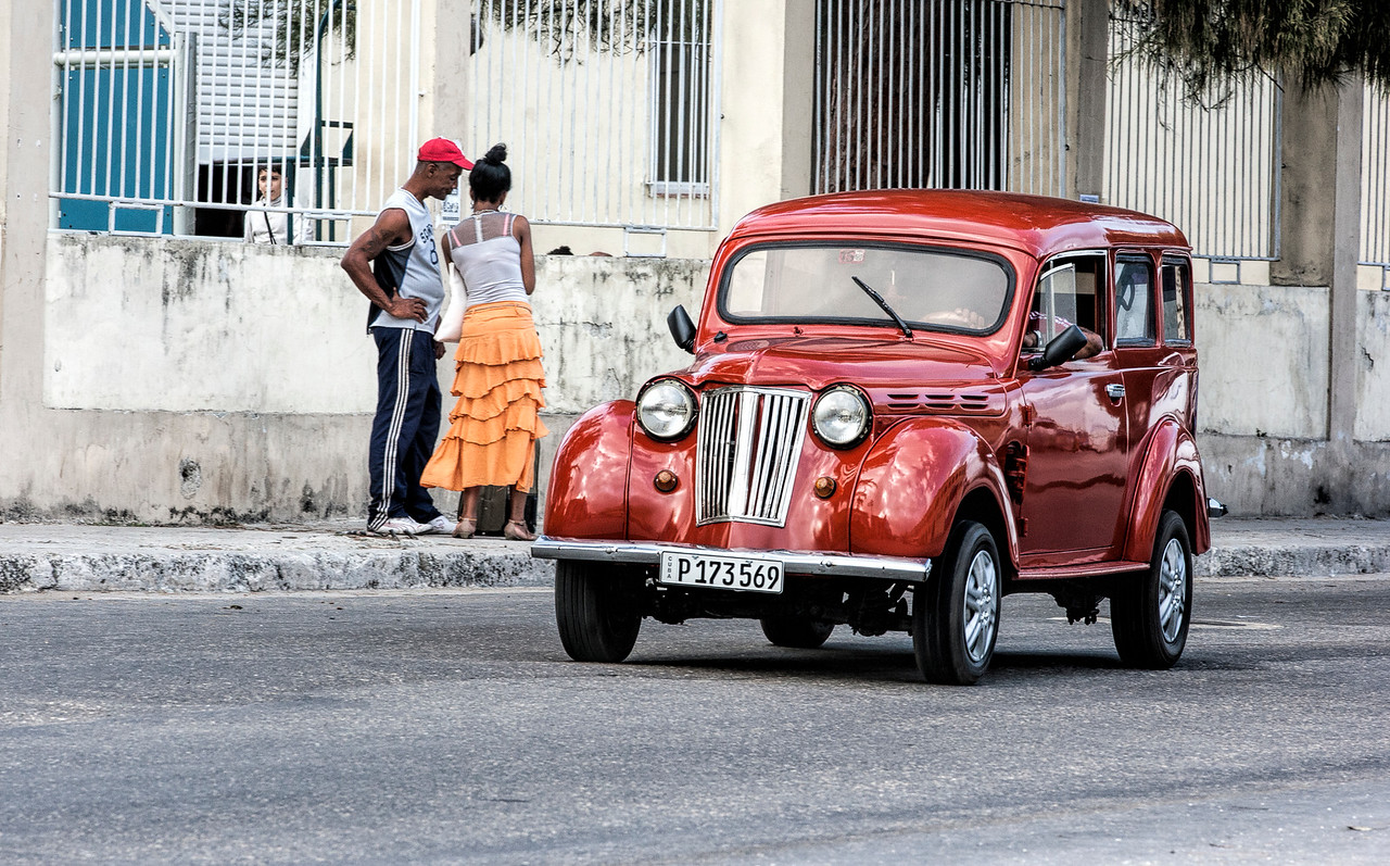 Restored American Car in Havana