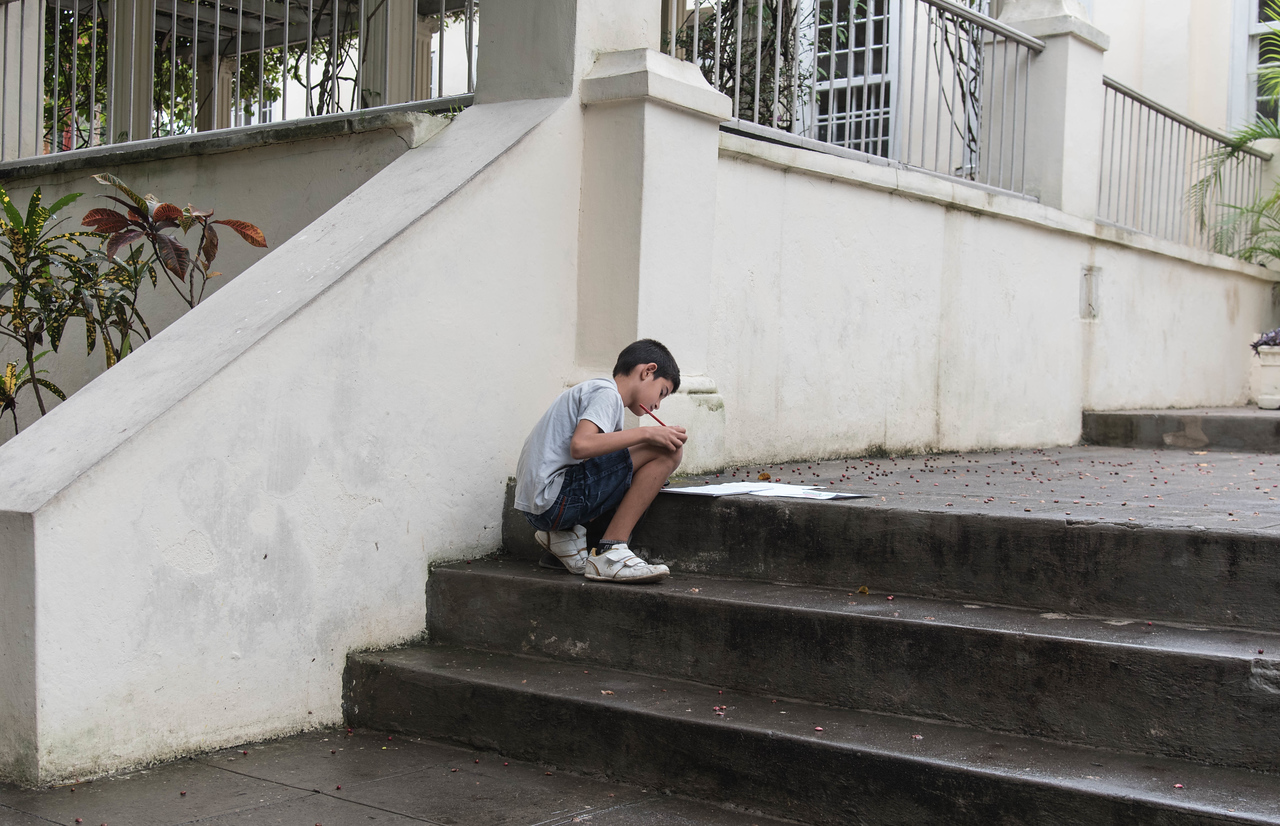 Young scholar at Hemmingway's House