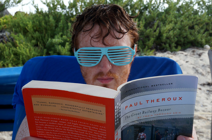 Shutter shades and a bit of reading.