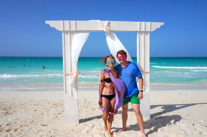Sam and Audrey in Cuba