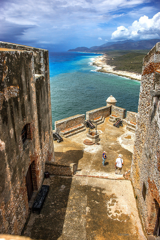 Castillo de San Pedro del Morro, the main fort defending the harbor at Santiago de Cuba.
