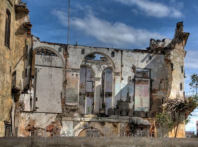 Ruins in front of the Prado Promenade.