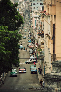 Street that goes from the University to Central Havana.  Havana, Cuba.