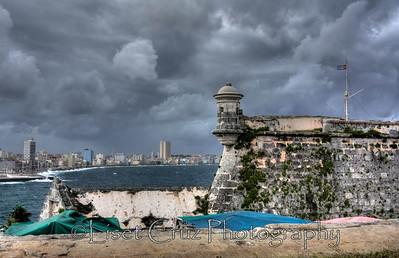 Havana city viewed from The Morro Castle.  Havana, Cuba.