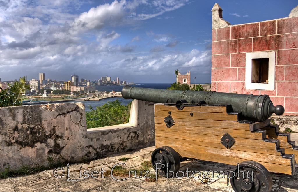 A canon in la Cabaña Fortress.  Havana, Cuba.