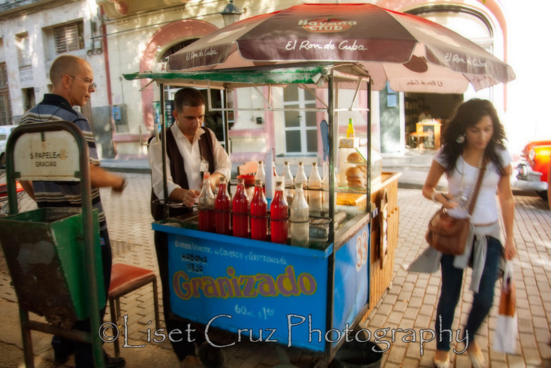 A refreshing and too-sweet softdrink: Granizado.