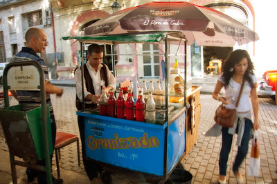 A refreshing and too-sweet softdrink: Granizado. Havana, Cuba.