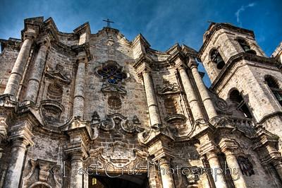 Facade of Havana Cathedral.  Havana, Cuba.  Photo by Liset Cruz Garcia.