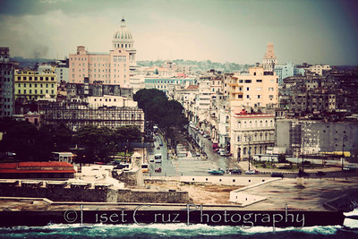A view of the Prado Promenade from The Morro Castle. Havana, Cuba.