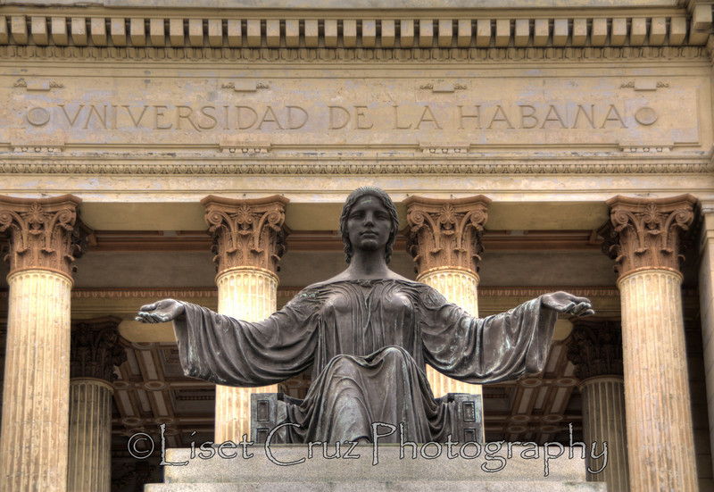 Alma Mater is the symbol of the Universidad de La Habana. Havana, Cuba.