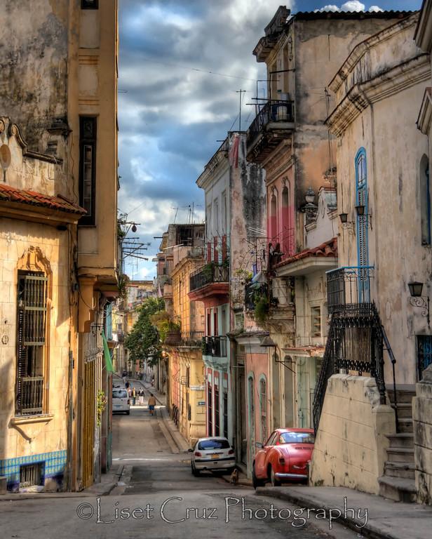 A beautiful street in Old Havana.  Havana, Cuba.