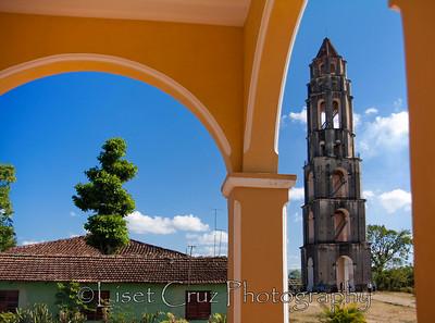 Torre Manaca-Iznaga thought the arcs of the house. Trinidad, Cuba.
