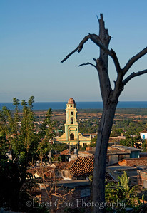 View with the convent's tower. Trinidad, Cuba.