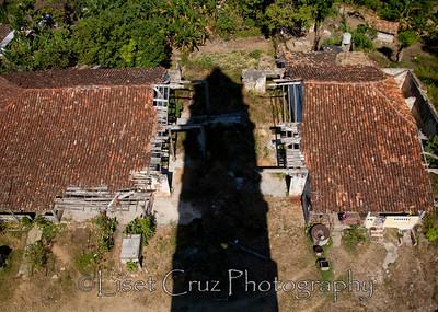 The shadow of the Torre Manaca-Iznaga. Valle de los Ingenios, Trinidad, Cuba.