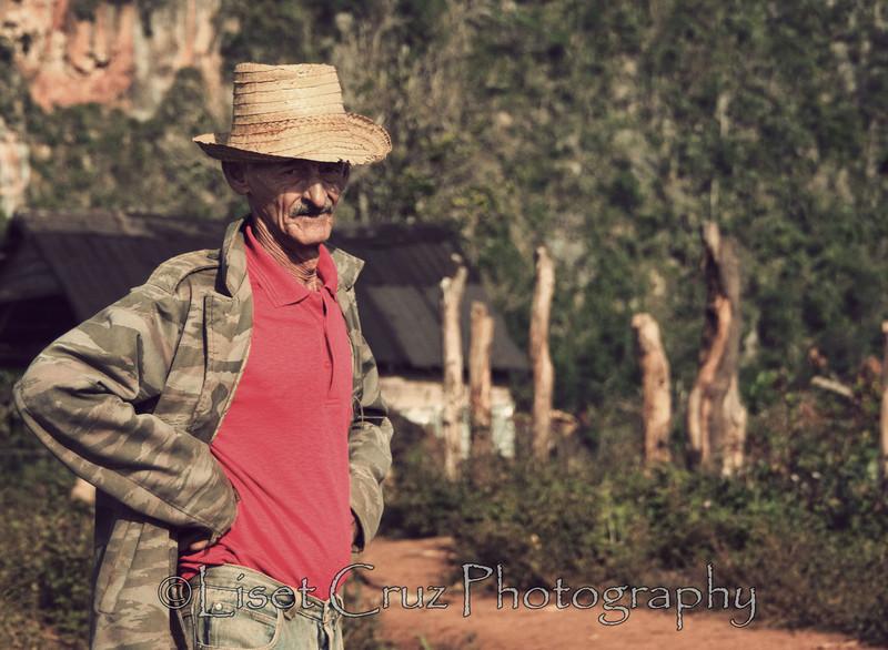 A man in Viñales, Pinar del Rio, Cuba.