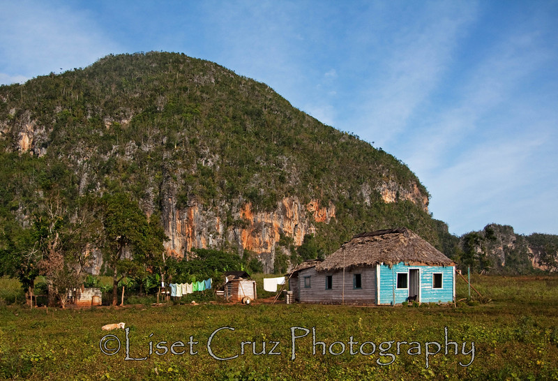 A typical farmer's house in  in Viñales, Pinar del Rio, Cuba.